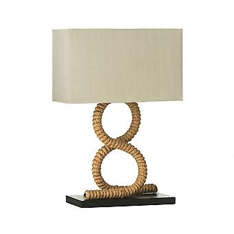 Premier Home Maine Table Lamp / Uk Plug, Chrome, Natural