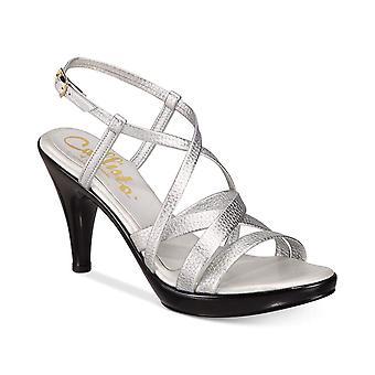 Callisto Womens Georgette Open Toe Formal Slingback Sandals