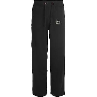 Gordon Highlanders-licenciado British Army bordados abertos hem Sweatpants/jogging Bottoms