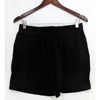 Anybody Women's Shorts Loungewear Cozy Knit Pull-on Black A306954