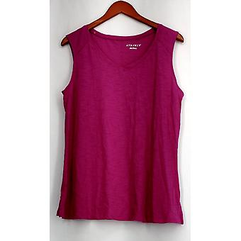 Ava & Viv X Sleeveless V-Neckline Light Weight Top Pink Womens