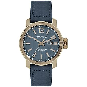 Nautica syd gent's Japanese Quartz Analog Man Watch with NAPSYD004 Cowskin Bracelet