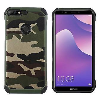 Huawei Y7 Prime 2018 Caso Shock Proof Trasparente - Esercito