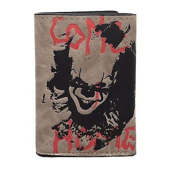 IT Clown Tri-Fold Wallet with Chain