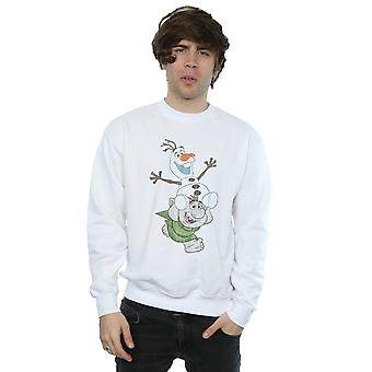 Disney Men's Frozen Olaf And Troll Sweatshirt