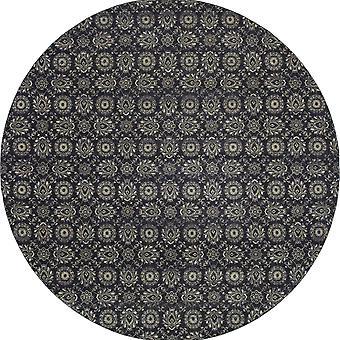 Richmond 214h3 navy/grey indoor area rug round 7'10
