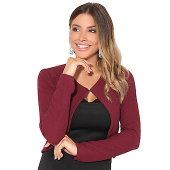 KRISP Womens gestrickte Mode Jacke Blazer Crop Top Mantel Smart Cardigan Winter Achselzucken