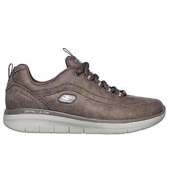 Skechers Casual Skechers - Synergy 2.0 Dark Taupe Microleather / Taupe Trim 16410