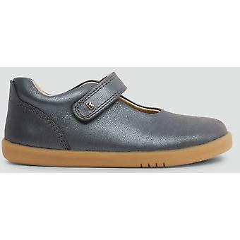 Bobux Kid+ Girls Delight Shoes Charcoal Shimmer