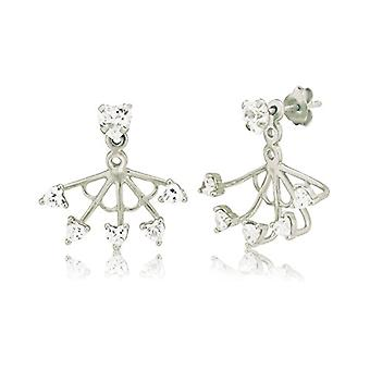 Ingenious Jewellery Woman 925 silver Round transparent ENDEARRING - silver - color: silver - cod. EB4048/SIL