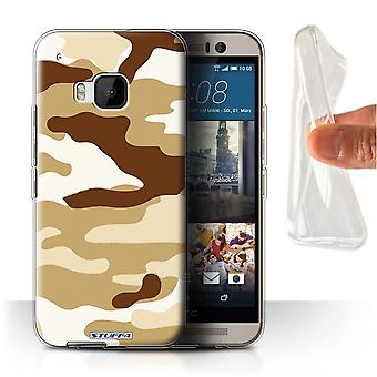 STUFF4 Gel/TPU Case/Cover für HTC One/1 M9/braun 2/Camouflage Army Navy