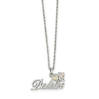 925 טבעת אביב מלוטש כסף סטרלינג ו 12k פרפר מלאך כנפיים מאמינים שרשרת 18 אינץ' מתנות תכשיטים לנשים