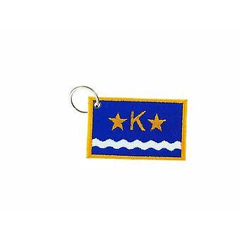 Cle Cles Key Brode Patch Ecusson Badge Flag Congo Kinsasha