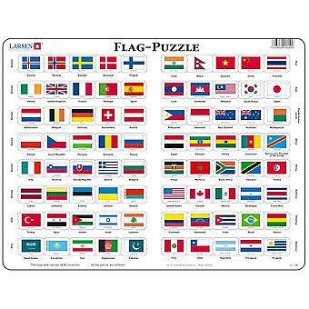 Flags of the World - Frame/Board Jigsaw Puzzle-29 x 37 cm (LRS L2-GB)