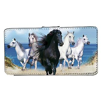 Samsung S9 Beach Horses wallet case with picture skin