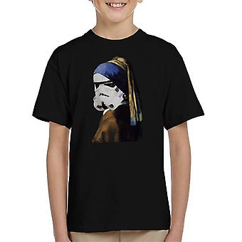 Original Stormtrooper With The Pearl Earring Parody Kid's T-Shirt
