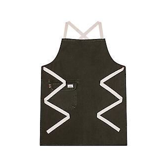 Chorlton denim bib apron army green