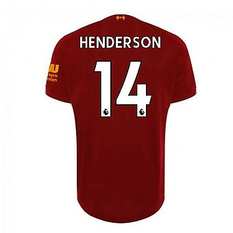 2019-2020 Liverpool Home Football Shirt (Henderson 14)