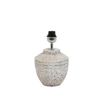 Luz y vida lámpara Base Ø20x30 TOBA Cm pequeño gris antiguo