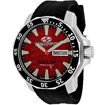 Seapro Men's Scuba Dragon Diver Limited Edition 1000 Meters Red Dial Watch - SP8317
