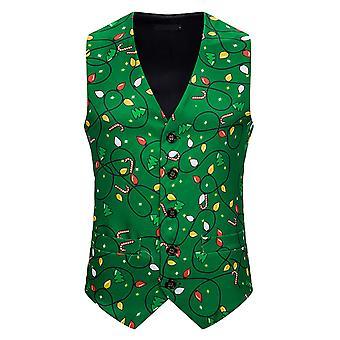 Alle Themen Men's Weihnachten Serie gedruckt Anzug Weste 10 Farben