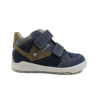Ricosta Kimo 2431400-170 Wide Fit Navy Nubuck Boys Rip Tape Water Resistant Ankle Boots