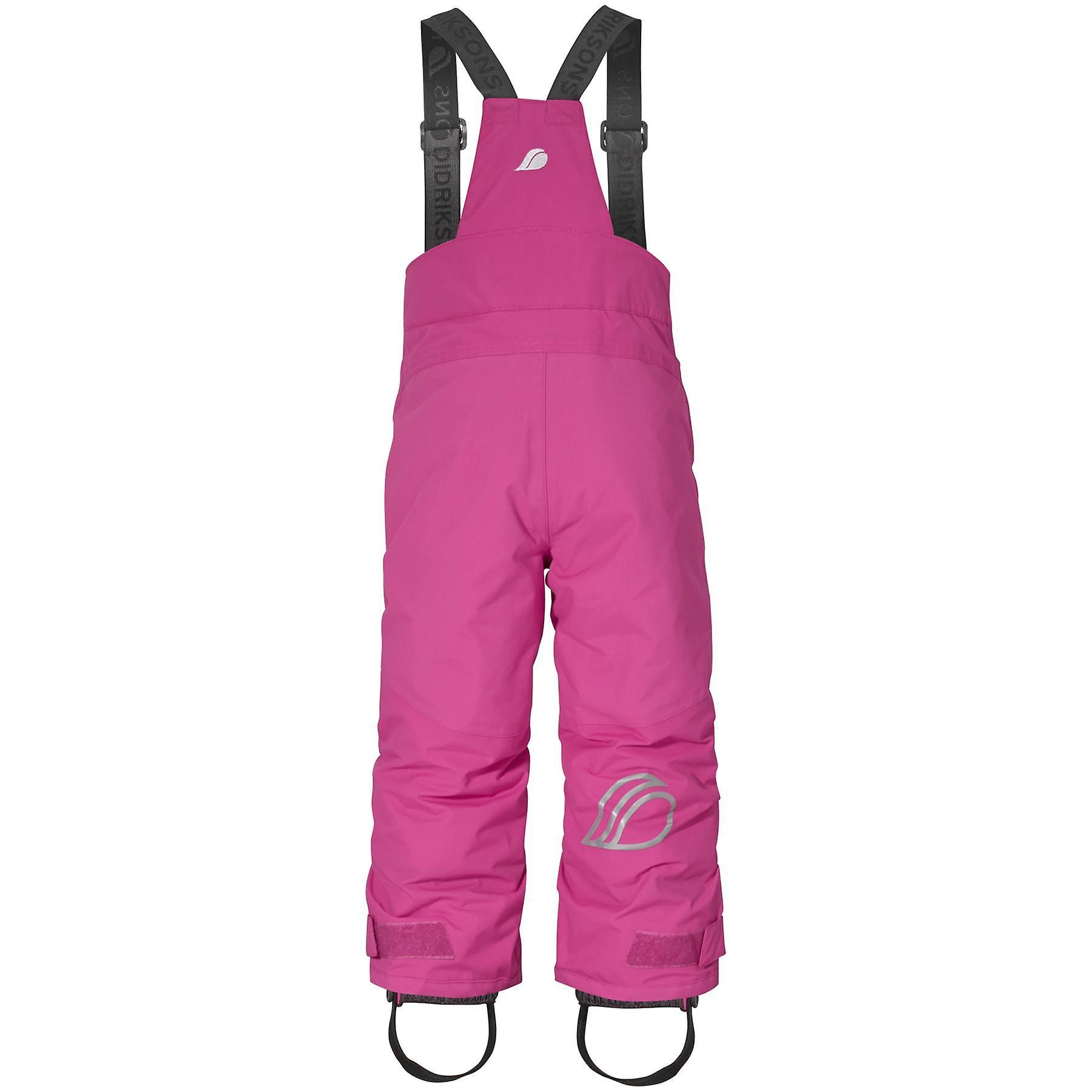 Didriksons Idre 3 Kids Junior Ski Pants Salopettes | Plastic Pink