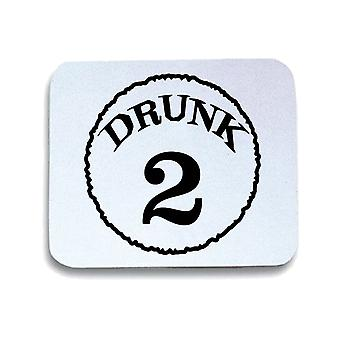 Tappetino mouse pad bianco trk0534 drunk two