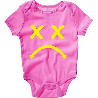 Body neonato rosa raspberry dec0282 sad smiley