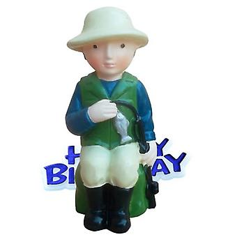 Creative Fisherman Design Birthday Party Cake Topper
