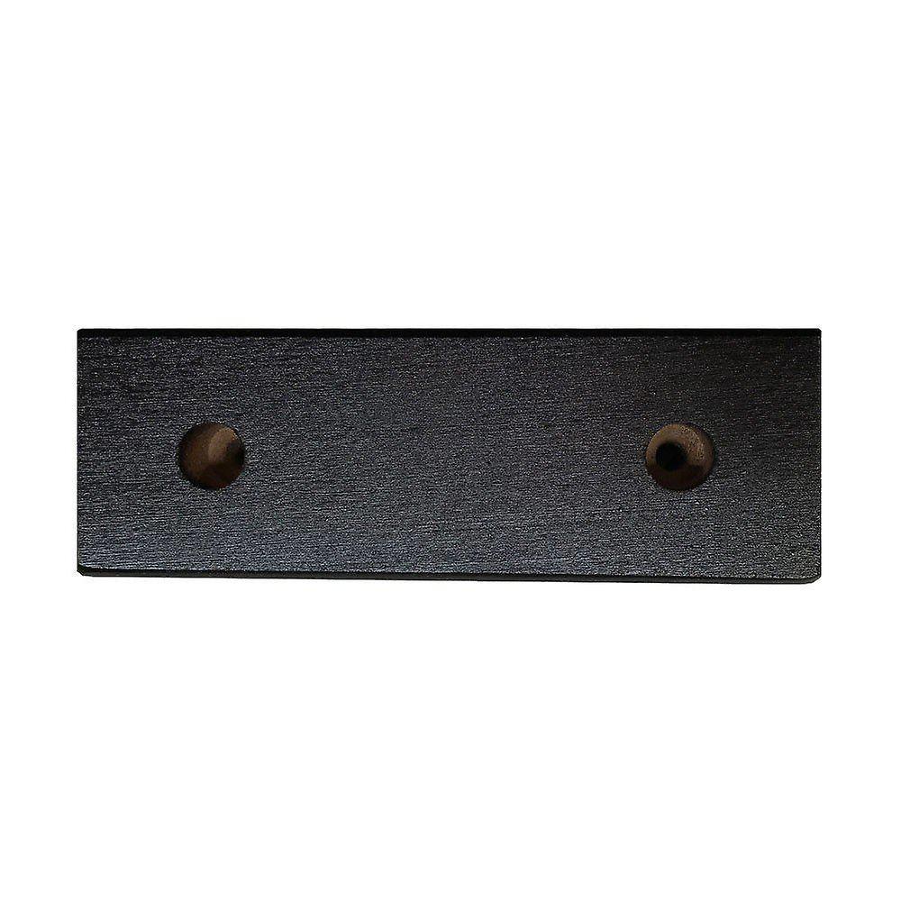 Jambe rectangulaire de meubles en bois noir 4.5 cm