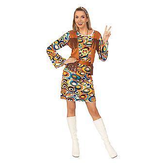 Bristol Novelty Womens/Ladies Hippy Dress Costume