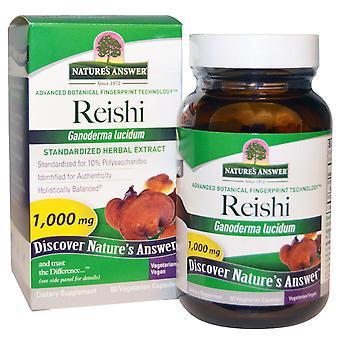 Reishi, Standardized Herbal Extract, 1000 mg (60 Veggie Caps) - Nature's Answer