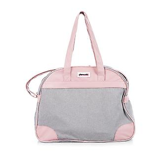 Chipolino wrap bag, sporty design, zipper, wrapping pad pink