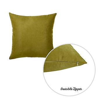 Set of 2 Fern Green Brushed Twill Decorative Throw Pillow Covers