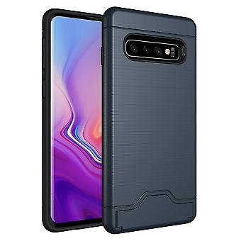 Para Samsung Galaxy S10 Case Navy Azul Slim TPU + PC Brushed Shockproof Cover