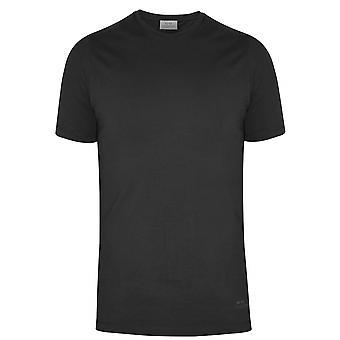 CC Collection Corneliani Corneliani Black Long Sleeve Jersey T-Shirt