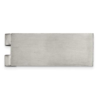19.85mm Stainless Steel Brushed Money Clip Jewelry Gifts for Men