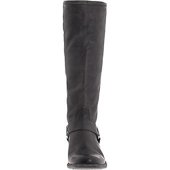 Frye Womens Phillip Harness Leather Round Toe Knee High Fashion Boots