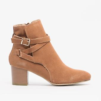 Divaz Arianna Ladies Suede Ankle Boots Sand