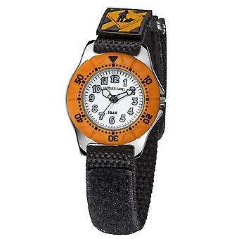 JACQUES FAREL Kinder-Armbanduhr Analog Quarz Jungen Nylonklettband KWD 6991 Bau