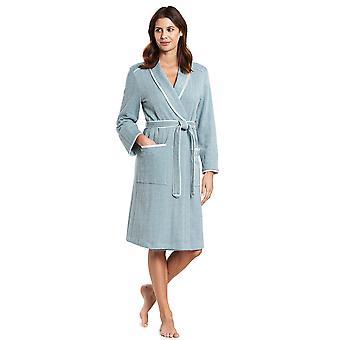 Féraud 3191076-11752 Women's High Class Deep Sea Blue Cotton Dressing Dress Loungewear Robe