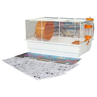 Voltrega Kit para Hamster + Paint Cut Fondo Marino (Small pets , Cages and Parks)