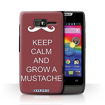 STUFF4 Case/Cover for Motorola RAZR D1/Grow a Mustache/Maroon/Keep Calm