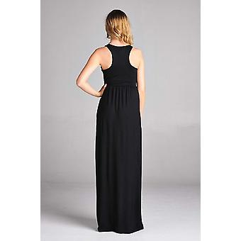 Sportoli Maxi Dresses for Women Solid Lightweight Long, Olive, Size Medium