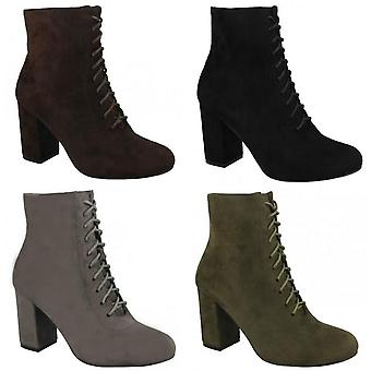 Spot On Womens/Ladies Lace Up Ankle Boots