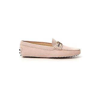Tod's Xxw00g0cy70re0m030 Women's Pink Suede Loafers