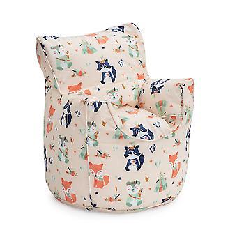 Bereit Steady Bed Wald Freunde Kinder Kleinkind Sessel | Bequeme Kindermöbel | WeicheS Kind Safe Seat Spielzimmer Sofa | Ergonomisch gestaltete Bean Bag Stuhl
