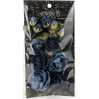 Graphique 45 Staples Rose Bouquet Collection 15/Pkg - Bon Voyage et bleu Français