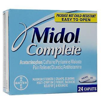 Compresse di Midol dolore completo mitigatore/diuretico/antistaminico, ea 24